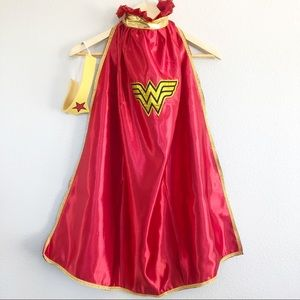 Wonder Woman Costume Cape w Headpiece